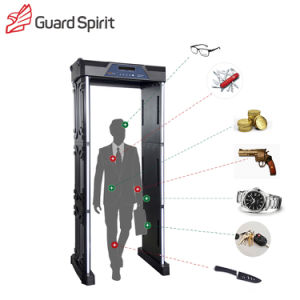LED / LCD Screen 18 Zones 255 Degree Military Security Walk Through Metal Detector pictures & photos