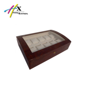 High Gloss 2 Layer Wooden Watch Case with Window pictures & photos