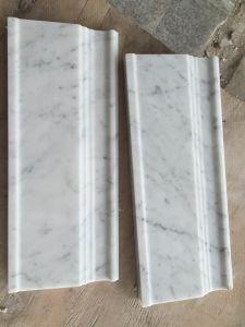 Carrara White Bullnose Pencil Liner Molding pictures & photos