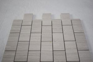 Cheap Price Honed Beveled Subway Brick Polished White Oak Mosaic Tile pictures & photos
