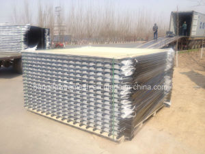 China Ornamental PVC Coated Residential Black Wrought Rail Steel Fencing pictures & photos