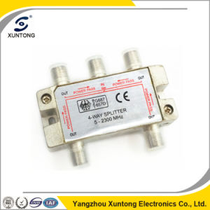 4-Ways 5-2400MHz RF Splitter for Satellite Signal Free 4 Adapters pictures & photos
