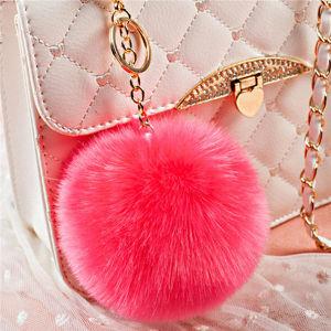 Elegant Rex Rabbit Fur Pompon Keychain pictures & photos