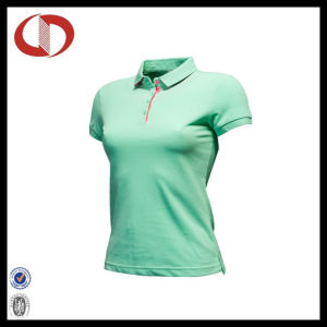 Women New Pattern Pour Color Fashion Polo Shirts pictures & photos