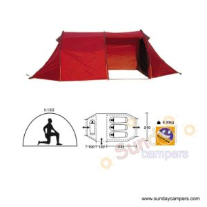 Rectangle 4 Person Double Layers Poly Taffeta Camping Tent (SCC-909) pictures & photos