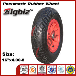 Bigbiz Brand 400-8 Wheel Barrow Rubber Wheels pictures & photos