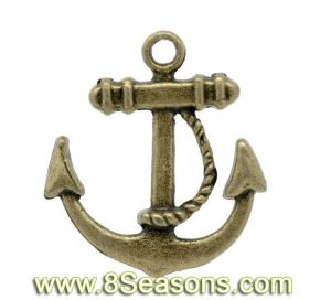 Antique Bronze Anchors Charm Pendants 23x20mm (B13092)