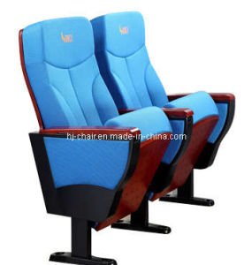 Blue Color Auditorium Hall Furniture with Wood Armrest Stadium Seating pictures & photos