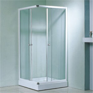 Corner Indoor Chrome Sliding Square Glass Shower Enclosure Room pictures & photos
