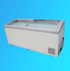Chest Freezer with Curved Glass Door, Ice Cream Freezer SD/Sc-508y pictures & photos