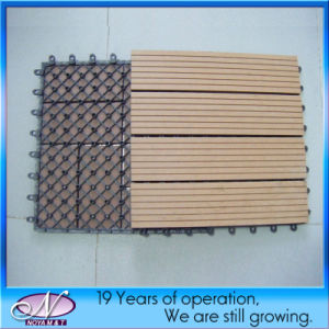 Synthetic Wood Plastic Composite/WPC Outdoor Decking Floor Tiles pictures & photos