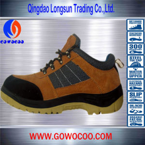 Double Density PU Stitching Leather Fashion Safety Shoes/Footwear (GWPU-1023)
