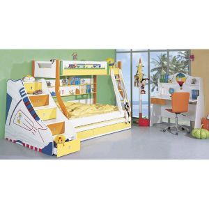 Colourful Decorated Wooden Children Bedroom Furniture (WJ277440) pictures & photos