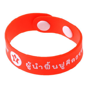 Red Promotion Silicone Bracelet pictures & photos
