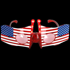 Us Flag LED Flashing Glasses (QY-LS300A) pictures & photos