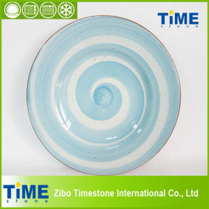 Wholesale Handmade Colored Ceramic Plate (082503) pictures & photos