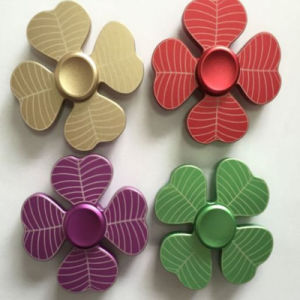 Tree Leaf Aluminum Alloy Hand Finger Fidget Spinners Top Gyro pictures & photos