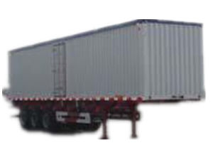 Durable 3 Axle Van Type Bulk Grain Semi-Trailer pictures & photos