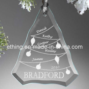 Personalized Glass Christmas Tree Decoration for Souvenir Gift pictures & photos