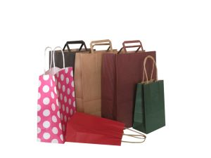 Color Kraft Paper Gift Bag with Handle pictures & photos
