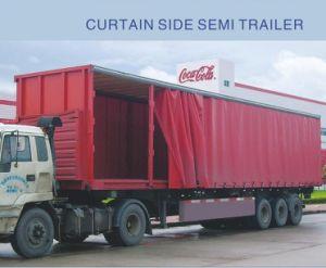 3-Axle Curtain Side Semi Trailer