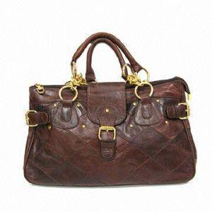 Genuine Leather Women′s Handbag (9064A-1)