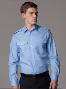 Tc 65/35 Plain Dyed Pilot Shirt with Chest Pockets pictures & photos