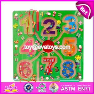 New Products Kids Educational Toy Wooden Magnetic Color Maze W11h019 pictures & photos