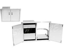 Tank Tray Slide out and Drawers Combo Storage