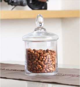Glass Food Container, Hand Made Glass Candy Jar