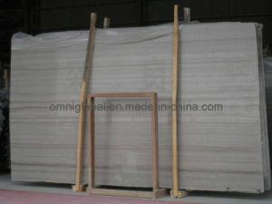 Polished White Wood Vein Marble Stone Slab/ Tile