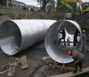 Hot Galvainzed Corrugated Steel Pipe Culvert