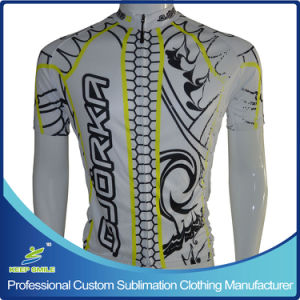 Custom Sublimation Cycling Jersey with Neon Yellow Color pictures & photos