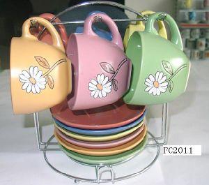 Ceramic Cup & Saucer 12PCS Set (EP1003)