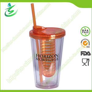 16 Oz Eco-Friendly Infuser as Cup with Straw pictures & photos