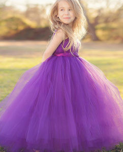 OEM Couture Purple Lovely Service Price Princess Dress Wedding Dress [Can Be Custom Color] pictures & photos