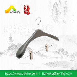 Mass Black Wooden Clip Hanger for Clothes (ACH210) pictures & photos