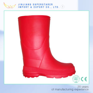 Plain Red EVA Women Work Rain Boot pictures & photos