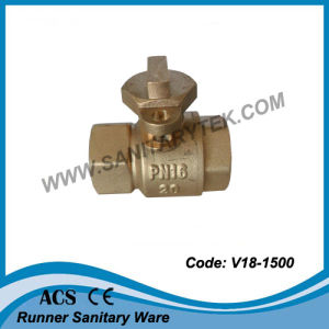 Brass Forged Lockable Ball Valve (V18-1500) pictures & photos