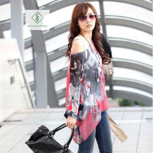 Fashion Bohemia Series Blouse Beach Sunscreen Chiffon Women Shirt pictures & photos