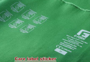 Non-Woven Care Labels Heat Transfer Stickers for All Clothes Tagless Labels pictures & photos