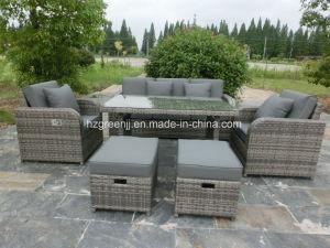 6 Pieces Gas Recliner Sofa Set Garden Rattan Furniture pictures & photos
