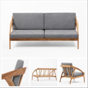 China Living Room Bedroom Furniture Modern Walnut Oak Beech Sofa Set China Wooden Furniture