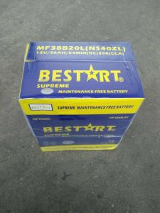 38b20L-Mf JIS Standard Car Battery 12V35ah Mf Auto Battery Storage Battery pictures & photos