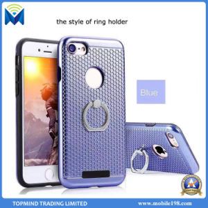 TPU and Hard Plastic Hybrid Mobile Phone Case Cover with Ring Holder for iPhone and Samsung pictures & photos