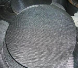 Black Wire Mesh/Black Wire Cloth/Black Vinyl Coated Wire Mesh pictures & photos