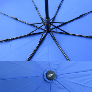Wooden Handle 3 Fold Manual Protection Rain Umbrella (JF-MMO310) pictures & photos