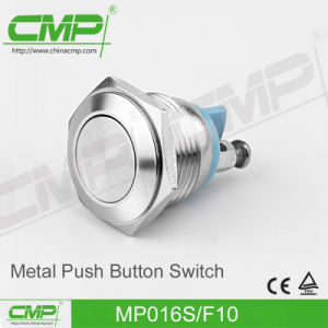 16mm Flat Head Momentary 1no1nc Push Button Switch pictures & photos