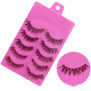 5 Pairs Makeup Handmade Messy Natural Cross False Eyelashes Perfect Eye Lashes pictures & photos