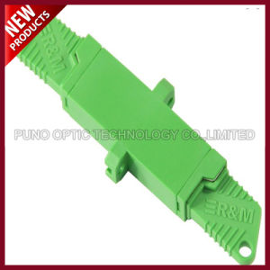 Manufactured Plastic Fiber Optic E2000 APC Singlemode Adapter pictures & photos